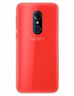 Funda Gel Silicona Liso Rojo para Alcatel 3