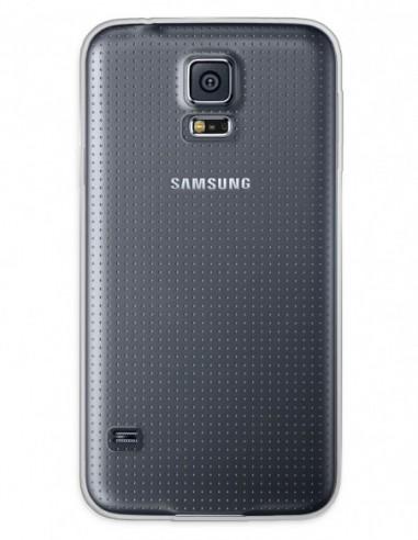 Funda Gel Silicona Liso Transparente para Samsung Galaxy S5 Neo