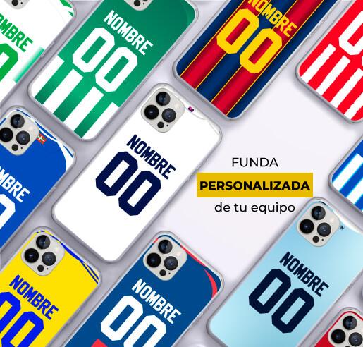 ¡Personaliza con tu nombre y número favorito, la funda de tu equipo de fútbol preferido!