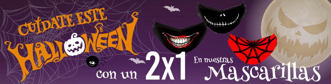 Halloween 2021 2x1 en mascarillas con diseño